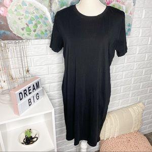 H&M Black Classic T-Shirt Dress